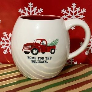 ⭐️2/25 Rae Dunn Red Truck Mug Home for the Holiday
